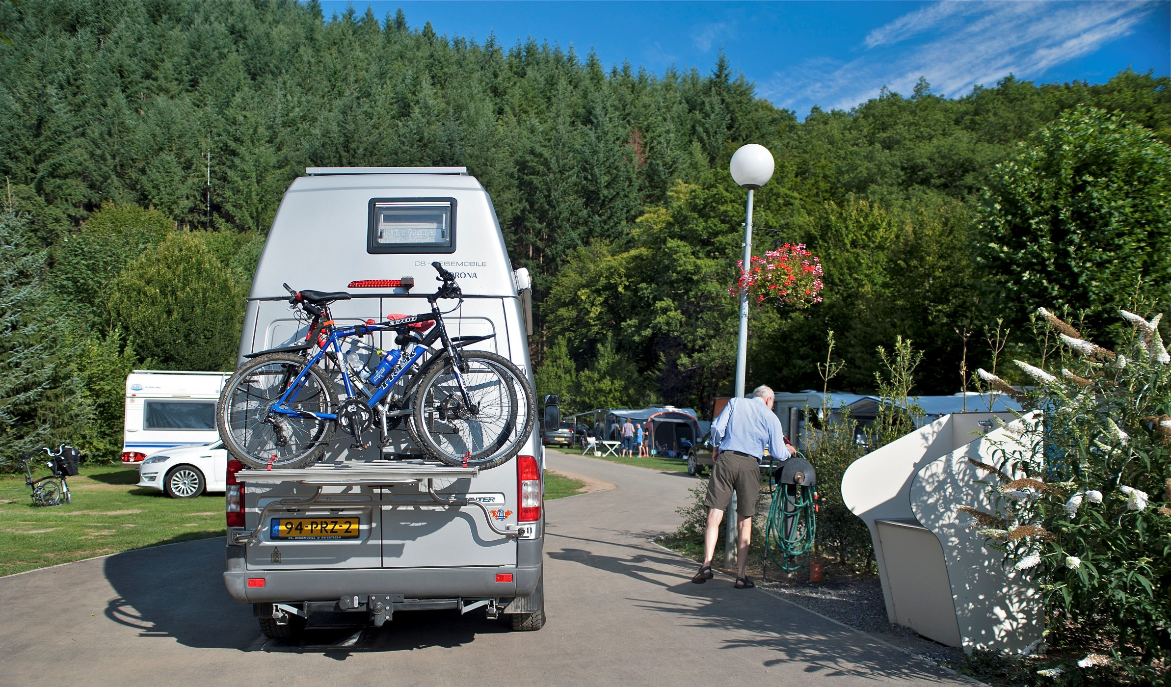 Camper Service Station op camping Parc La Clusure Ardennen